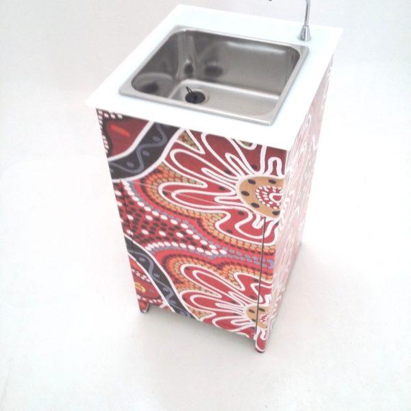 Lavamani portatile alluminio.