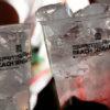 Bicchiere monouso ottagonale polipropilene.
