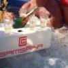 Ice glam porta champagne galleggiante