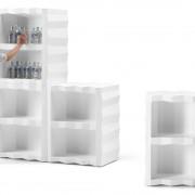 Display portabottiglie in polietilene Frozen
