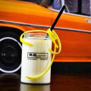 Drink in a plastic jar