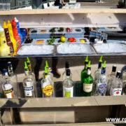 Bancone bar in acciaio