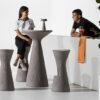 tavolo bar alto con sgabelli